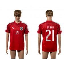 European Cup 2016 Austria home 21 Janko red AAA+ soccer jerseys