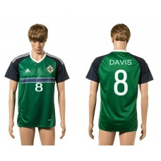 European Cup 2016 Northern Ireland 8 Davis green home AAA+ soccer jerseys