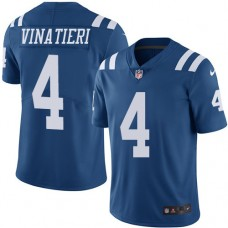 2016 Nike Indianapolis Colts 4 Adam Vinatieri Royal Blue Mens Stitched NFL Limited Rush Jersey