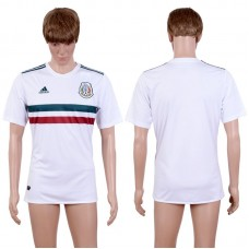2017-2018 National Men Mexico Away Aaa+ White Soccer Jersey