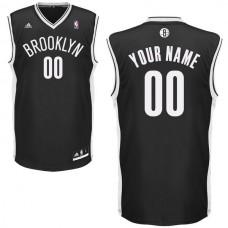 Adidas Brooklyn Nets Youth Custom Replica Road Black NBA Jersey