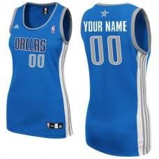 Adidas Dallas Mavericks Women Custom Replica Road Blue NBA Jersey