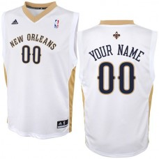 Adidas New Orleans Pelicans Youth Custom Replica Home White NBA Jersey