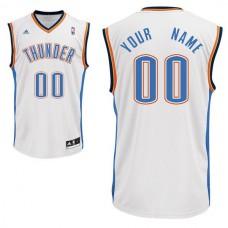 Adidas Oklahoma City Thunder Youth Custom Replica Home White NBA Jersey
