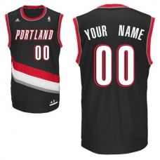 Adidas Portland Trail Blazers Youth Custom Replica Road Black NBA Jersey