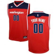 Adidas Washington Wizards Youth Custom Replica Road Red NBA Jersey
