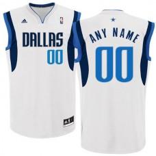 Men Adidas Dallas Mavericks Custom Replica Basketball White NBA Jersey