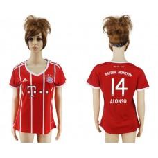 2017-2018 Club Bayern Munich home aaa verion women 14 red soccer jersey