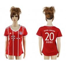 2017-2018 Club Bayern Munich home aaa verion women 20 soccer jersey