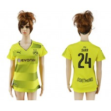 2017-2018 Club Dortmund home aaa verion women 24 soccer jersey