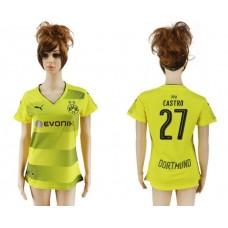 2017-2018 Club Dortmund home aaa verion women 27 soccer jersey