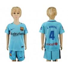 2017-2018 club barcelona aeay kids 4 soccer jersey
