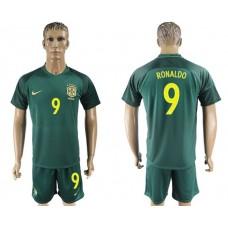 Men 2017-2018 National Brazil away 9 soccer jersey