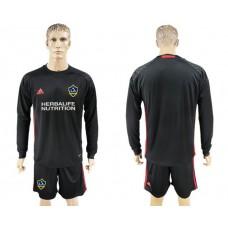 Men 2017-2018 club LA Galaxy black long sleeve goalkeeper soccer jersey
