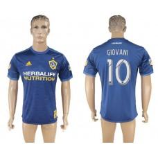 Men 2017-2018 club Los Angeles Galaxy away aaa version 10 blue soccer jersey