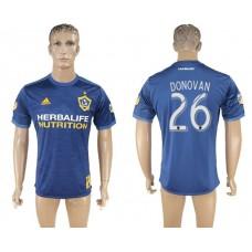 Men 2017-2018 club Los Angeles Galaxy away aaa version 26 blue soccer jersey