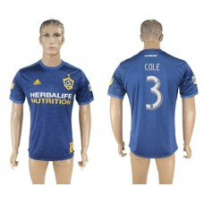 Men 2017-2018 club Los Angeles Galaxy away aaa version 3 blue soccer jersey