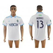 Men 2017-2018 club Seattle Sounders away aaa version 13 white soccer jersey
