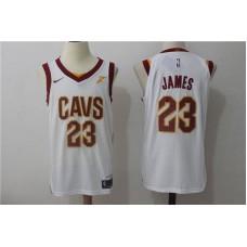 2017 Men Cleveland Cavaliers 23 Lebron James white Nike NBA Jerseys