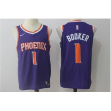 2017 Men Phoenix Suns 1 Booker Nike purple NBA Jerseys