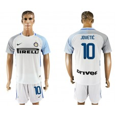 Men 2017-2018 club Inter milan away 10 white soccer jersey1