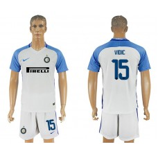 Men 2017-2018 club Inter milan away 15 white soccer jersey