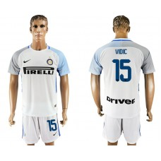Men 2017-2018 club Inter milan away 15 white soccer jersey1