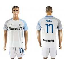 Men 2017-2018 club Inter milan away 17 white soccer jersey1