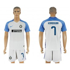 Men 2017-2018 club Inter milan away 7 white soccer jersey