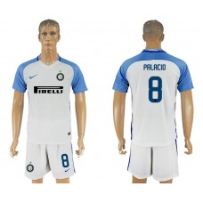 Men 2017-2018 club Inter milan away 8 white soccer jersey