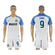 Men 2017-2018 club Inter milan away 9 white soccer jersey