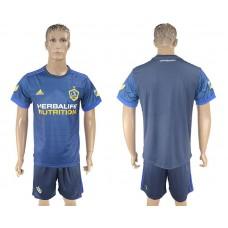Men 2017-2018 club LA Galaxy away blank blue soccer jersey
