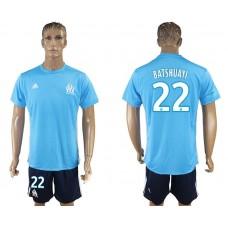 Men 2017-2018 club Marseille away 22 blue soccer jersey