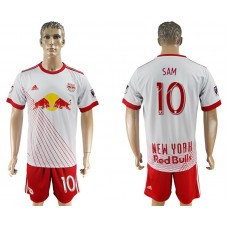 Men 2017-2018 club Red Bulls home 10 white soccer jersey