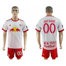 Men 2017-2018 club Red Bulls home customized white soccer jersey