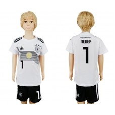 2018 World Cup Germany home kids 1 white soccer jersey
