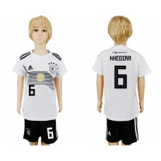 2018 World Cup Germany home kids 6 white soccer jersey