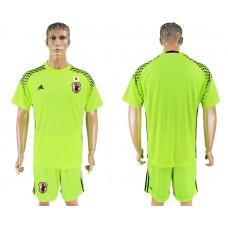 Men 2018 World Cup National Japan fluorescent green goalkeeper soccer jersey