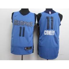 Men Memphis Grizzlies 11 Gonley Blue Nike NBA Jerseys