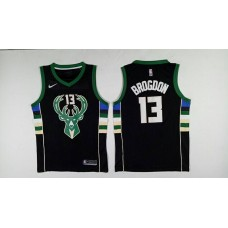 Men Milwaukee Bucks 13 Brogdon Black Nike NBA Jerseys