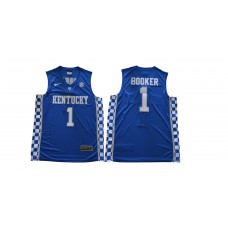 Men Kentucky Wildcats 1 Booker Blue NBA NCAA Jerseys