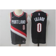 Men Portland Trail Blazers 0 Lillard Black Game Nike NBA Jerseys