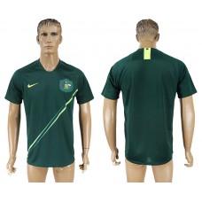 Men 2018 World Cup Australia away aaa version green soccer jersey
