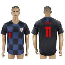 Men 2018 World Cup Croatia away aaa version 11 blue soccer jersey