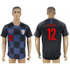 Men 2018 World Cup Croatia away aaa version 12 blue soccer jersey