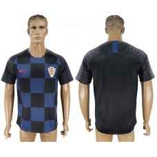 Men 2018 World Cup Croatia away aaa version blue soccer jersey