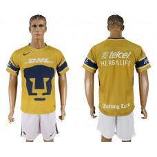 Men 2018-2019 club Pumas UNAM away yellow soccer jersey