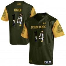 Men Norte Dame Fighting Irish 14 Kizer Green Fashion Edition Customized NCAA Jerseys
