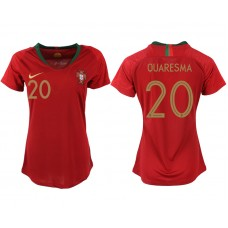 2018 World Cup Portuga home aaa version womens 20 soccer jersey