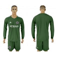 2018-2019 Club Men New York City army green long sleeve goalkeeper soccer jersey